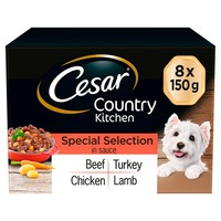 Cesar Country Kitchen Adult Wet Dog Food Trays in Sauce (Special Selection) big image