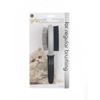 JW Gripsoft Double Sided Grooming Brush for Cats big image