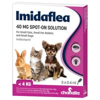 Imidaflea Spot-On Solution 40mg for Small Cats, Dogs and Rabbits (3 Pipettes) big image
