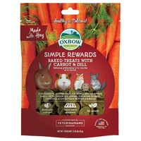 Oxbow Simple Rewards Baked Treats with Carrot and Dill 60g big image