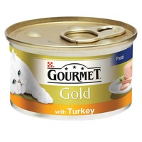 Purina Gourmet Gold Pate Cat Food 12 x 85g Tins (Turkey) big image