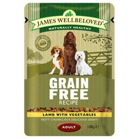 James Wellbeloved Adult Dog Grain Free Wet Food Pouches big image