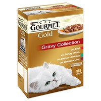 Purina Gourmet Gold Cat Food 12 x 85g Tins (Gravy Collection) big image