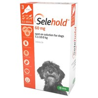 Selehold 60mg Spot-On Solution for Small Dogs (3 Pipettes) big image