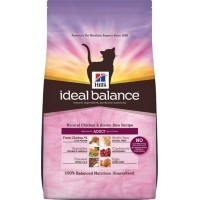 Hills Ideal Balance Adult Cat Food (Chicken & Brown Rice) 300g big image