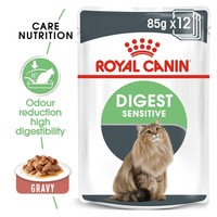 Royal Canin Digest Sensitive Care Pouches in Gravy Adult Cat Food big image