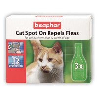 Beaphar Cat Spot On Repels Fleas Flea Drops big image
