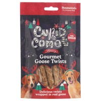 Rosewood Cupid & Comet Luxury Gourmet Goose Twists for Dogs 80g big image