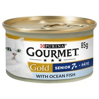 Purina Gourmet Gold Pate Senior Wet Cat Food Tins (12 x 85g) big image