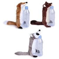 Animate Bottle Fill Wild Animal Squeaky Dog Toy big image