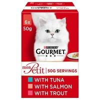 Purina Gourmet Mon Petit Wet Cat Food (Tuna, Salmon & Trout) big image