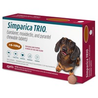 Simparica Trio Chewable Tablets for Dogs (5 - 10kg) big image