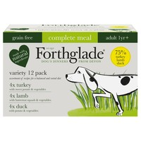 Forthglade Complete Meal Grain Free Dog Food Variety Pack (Turkey/Duck/Lamb) big image