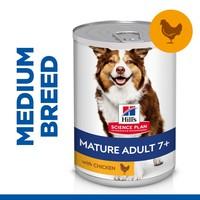 Hills Science Plan Mature Adult 7+ Medium Breed Wet Dog Food Tins (Chicken) big image