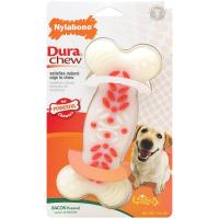 DuraChew Action Ridges Bacon Flavour Dog Bone - Colossal big image