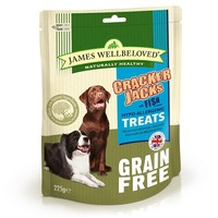 James Wellbeloved Grain Free Crackerjacks 225g (Fish) big image