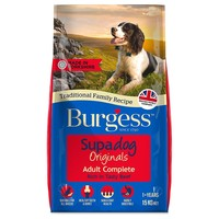 Burgess Supadog Adult Dog Food (Beef) 15kg big image
