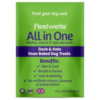 Feelwells All in One Oven Baked Dog Treats (Duck & Oats) 130g big image