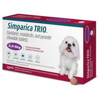 Simparica Trio Chewable Tablets for Dogs (2.5 - 5kg) big image