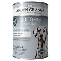 Arden Grange Partners Sensitive Adult Dog Wet Food Tins (White Fish & Potato) big image