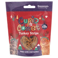 Rosewood Cupid & Comet Turkey Strips for Cats 40g big image