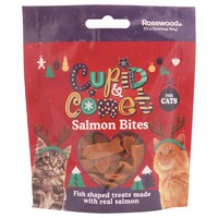 Rosewood Cupid & Comet Salmon Bites for Cats 40g big image