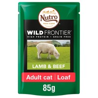 Nutro Wild Frontier Adult Cat Wet Food Pouches (Lamb & Beef) big image