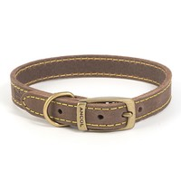 Ancol Timberwolf Leather Dog Collar (Sable) big image