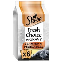 Sheba Fresh Choice Adult Wet Cat Food Pouches in Gravy (Poultry & Vegetables) big image