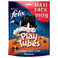Felix Play Tubes Cat Treats 180g (Chicken and Liver) big image