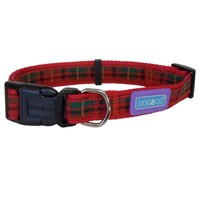 Dog & Co Adjustable Tartan Collar (Red) big image