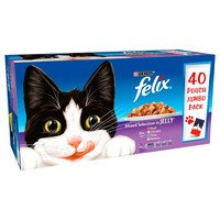 Felix Adult Cat Food in Jelly Pouches (Mixed Selection) big image