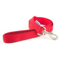 Ancol Heritage Padded Nylon Dog Lead 1.8m (Red) big image