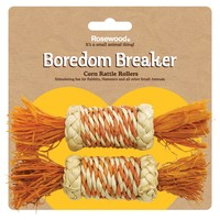 Rosewood Boredom Breakers Corn Rattle Rollers (2 Pack) big image