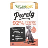 Naturediet Purely Wet Food for Dogs (Salmon & White Fish) big image