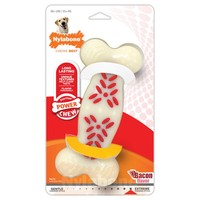 Nylabone Extreme Action Ridges Plus Bone Dog Chew (Bacon) big image