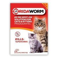 Ridaworm Wormer Spot On for Cats (2 Pipettes) big image