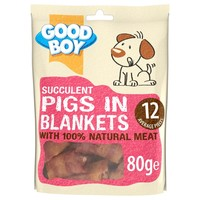 Good Boy Succulent Pigs in Blankets Dog Treats big image