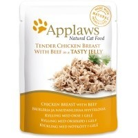 Applaws Adult Cat Food in Jelly 16 x 70g Pouches (Chicken with Beef) big image