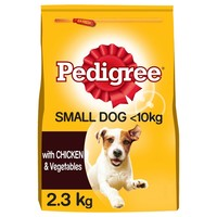 Pedigree Complete Adult Small Breed Dry Dog Food (Chicken & Vegetable) 2.3kg big image