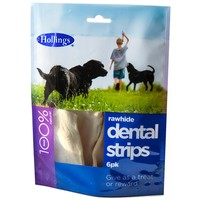 Hollings Rawhide Dental Strips Pack of 6 big image