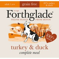 Forthglade Complete Meal Grain Free Cat Food (Turkey & Duck) 12 x 90g big image