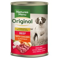 Natures Menu Original Adult Dog Food Cans (Beef with Chicken) big image