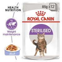Royal Canin Sterilised Pouches in Jelly Adult Cat Food big image