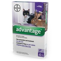 Advantage 80 Large Cats and Rabbits 4 Pipettes big image