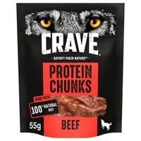 Crave Protein Chunks Dog Treats (Beef) 55g big image