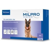 Milpro 12.5mg/125mg Worming Tablets for Dogs (4 Pack) big image