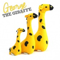 Beco Cuddly George The Giraffe Soft Dog Toy big image