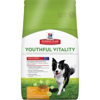 Hills Science Plan Youthful Vitality 7+ Dry Food for Medium Breed Dogs (Chicken) 14kg big image