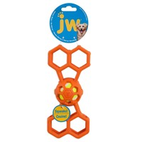 JW Hol-ee Bone with Squeaker Dog Toy big image